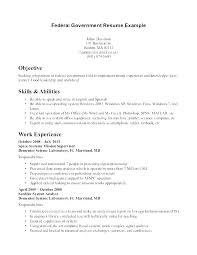 Federal Government Resume Sample For Job Jobs Us Format