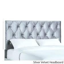 Velvet Headboard King Bed by White Velvet Headboard King Size Velvet Button Tufted Acrylic