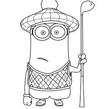 The Minion Coloring Page Kids Play Color