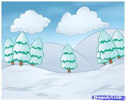 Learn How To Draw Winter Landscapes Landmarks Places FREE