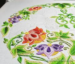 Embroidery Using The Secret Garden Coloring Book By Johanna Basford