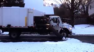 100 Leaf Vacuum Truck Local DPW Crews Remove Leaves Before Snow Storm