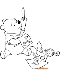 Winnie The Pooh Friends Coloring Pages