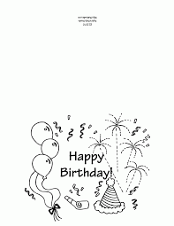 Coloring Birthday Cards Printable Card Page First Grade Ideas Template