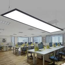 zx moderne led aluminium panel licht einfache led chip büro kronleuchter rechteckigen esszimmer studie ultradünne acryl flache le