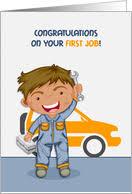 Congratulations First Job Automotive Card