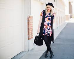 floral and black wiwt link up the red closet diary