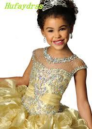 online get cheap girls pageant gold ball gowns aliexpress com