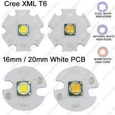 10pcs cree xml xm l t6 cool white 6500k neutral white 5000k warm