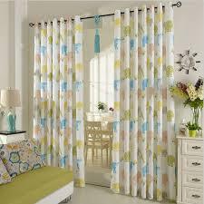 1pair Elephant Animal print curtains Grommet Top Window curtain