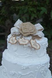 Rustic Cake Topper Burlap By MyRusticWeddings 4500
