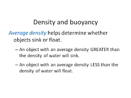 Materials Sink Or Float by Chapter 12 Properties Of Matter Ppt Video Online Download