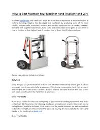 100 Best Hand Truck How To Maintain Your Magliner Or Cart
