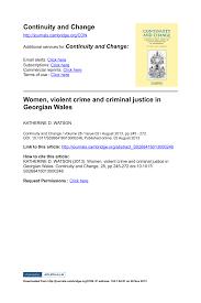 PDF Women Violent Crime And Criminal Justice In Georgian Wales
