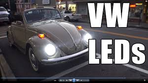 classic vw bugs how to install led headlight lighting review