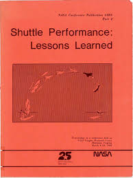 shuttle performance lessons learned part 2 space shuttle