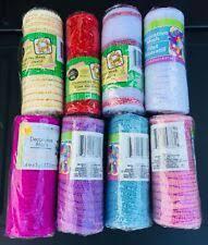 bänder deco mesh pink lime green wide foil 21 in
