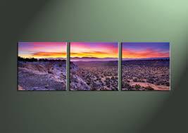 Home Decor3 Piece Wall Art Landscape Multi Panel Desert Canvas Print