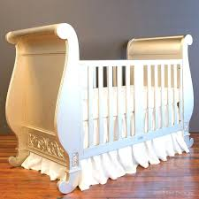 Bratt Decor Crib Skirt by Bratt Decor Chelsea Sleigh Crib In Antique Silver Baby Cribs 76