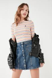 bdg denim button front skirt urban outfitters