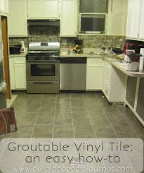 Groutable Self Stick Tile by Our Old Abode Kitchen Floor Groutable Vinyl Tile