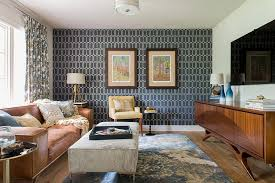 Wallpaper Living Room Modern Awesome Rooms That Inspire You To Try Out Geometric On