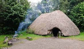 A Depiction Of Stone Age House In Ireland