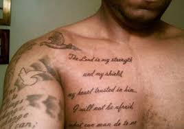 Bible Verses Quotes Tattoo On Chest