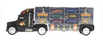 Toy Truck Transport Car Carrier - Includes 6 Toy Cars [toygm36630 ... Cheap Toy Truck Car Carrier Find Deals On New Bright 22inch Big Foot With 4 Trucks And Amazoncom Melissa Doug Mickey Mouse Cars Race Prtex 24 Detachable Transporter With Rubber Transport Long For Kids 6 28 Slots Little Earth Nest Az Trading Import Dinosaurs Set Zulily Hot Wheels Toys Children Ar Transporters For Kids Toys Buy Play22 Shrock Brothers 172nd Scale Models