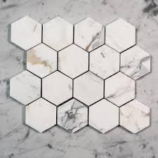 calacatta gold hexagon 80mm designer marble