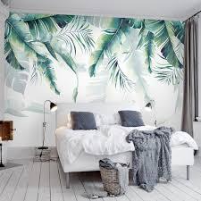 großhandel fuge ohne benutzerdefinierte fototapete tapete tropische regenwald palm banane blätter wandmalerei schlafzimmer wohnzimmer sofa hintergrund