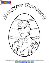 New Frozen Prince Hans Easter Coloring Page