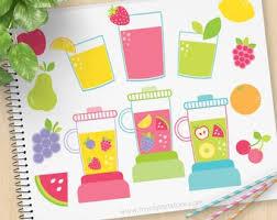 Smoothie Etsy Juicy Smoothies Blender Clipart Fruit Shake