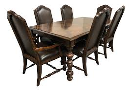 Bernhardt Normandie Manor Dining Table + Six Chairs - Dining Set Jet Set Ding Room Items Bernhardt Santa Bbara Includes Table And 4 Side Chairs By At Morris Home 78 Off Embassy Row Cherry Carved Wood Haven Chair Each 80 Gray Deco All Montebella 9 Piece Baers Design Couch Sale Interiors Keeley Of 2