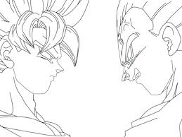 Dragon Ball Z Coloring Sheets Printable Gt Pages Goku Super Saiyan 2 Large Size