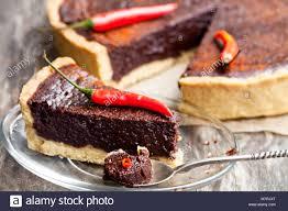 chocolate chili tart stockfotos und bilder kaufen alamy