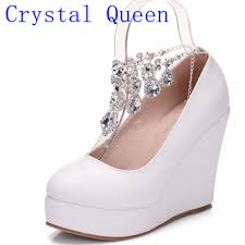compare prices on wedges bridal shoes online shopping buy low