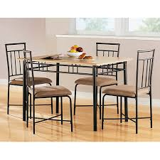 7 Walmart Dining Room Table Amazing Mainstays 5 Piece Wood And Metal Set Natural Furniture