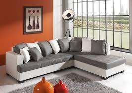 canapé d angle but gris et blanc canapé d angle design en pu gris blanc eros canapé d angle cuir