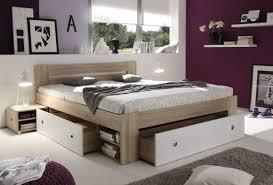 doppelbett mit 2 nachtkommoden stefan bett ehebett schlafzimmer 180 x 200 cm eiche sonoma weiß bettkasten