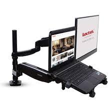 Dell Monitor Arm Desk Mount by Pricedepot Loctek D5dl Dual Arm Monitor U0026 Laptop Mount