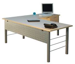 Glass And Metal Computer Desk With Drawers by Furniture Grey Metal Corner Computer Desk With Drawer And Wooden