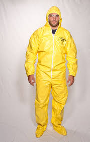 tychem qc hazmat suit with hood u0026 boots biohazard protection suit