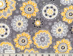 Yellow White And Gray Curtains by Yellow White And Black And Gray Floral Fabric New 100 Cotton