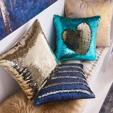 Pier One Blue Throw Pillows by Gold U0026 Teal Sequined Mermaid Pillow Pier 1 Imports