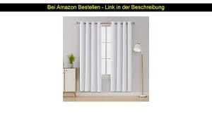 deconovo vorhang verdunkelung ösen gardinen schlafzimmer ösenvorhang blickdicht 175x140 cm grau w