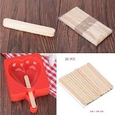3 Of 10 50 Pcs 114cm DIY Cake Wooden Handicraft Ice Cream Sticks Popsicle Making