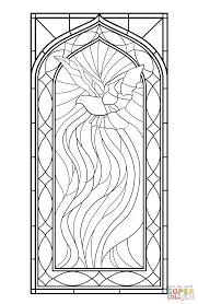 Stained Glass Window With Holy Spirit Coloring Page From Category Select 24104 Printable Crafts Of Cartoons Nature Animals Bible And