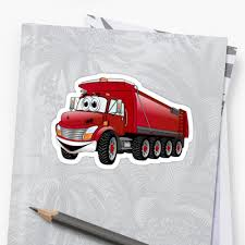 Red Dump Truck 10w Cartoon