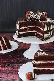 erdbeerschokoladenkuchen mit mascarpone creme kuchen